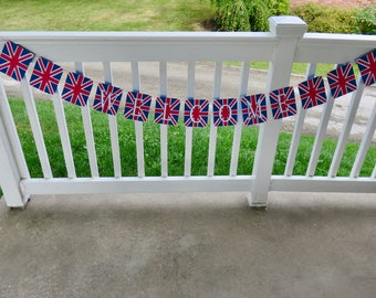 Welcome Banner, Union Jack Bunting Banner, Union Jack Welcome Banner, British Flag Welcome Banner, UK Flag Welcome Banner