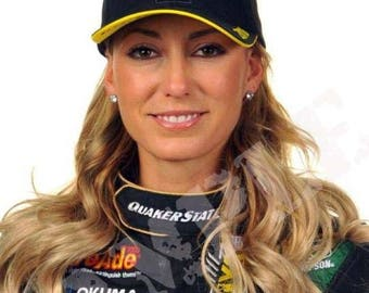 """8 x 10"""" Glossy Reproduction photo of Drag Racer Leah Pritchett"""