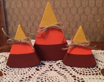 Wooden Candy Corn Set #2