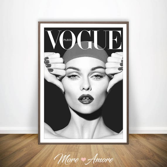 vogue wall art vogue poster black and white photography. Black Bedroom Furniture Sets. Home Design Ideas