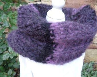 snood collar or detachable plum Alpaca women