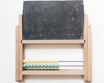 Mini table abacus / slate / 1960