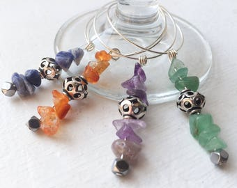 On the Rocks Wine Glass Charms (Set of 4)
