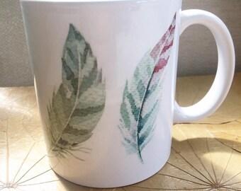 Feather print mug 110z