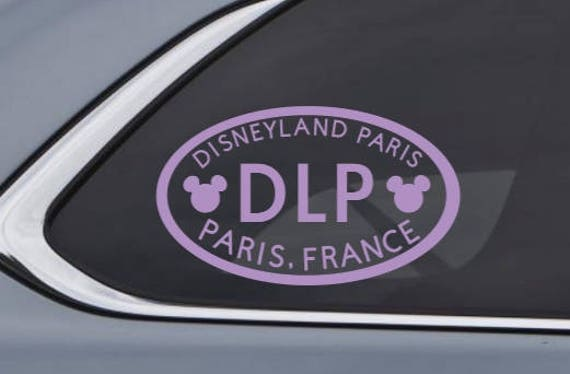 Disneyland Resort Anaheim CA Euro Oval Decal Inspired By - Custom vinyl oval decals