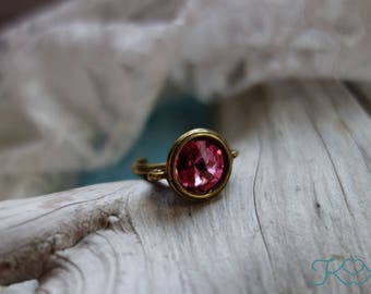 Rose Swarovski Crystal Ring