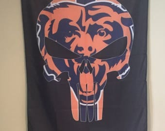 """Chicago Bears """"Punisher"""" Wall Banner"""