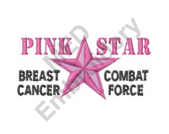 Star - Machine Embroidery Design, Breast Cancer Awareness