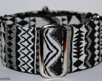 Tribal - Martingale collar for galgos, greyhound, dogs, adjustable, 100% fat cotton. El Galgo Cotilla