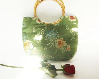 90s Japanese Style Bamboo Handbag