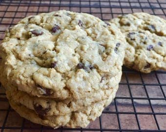 Oatmeal Chocolate Chip - 1 Dozen (over 2 lbs.) Bakery Size Gourmet Cookies