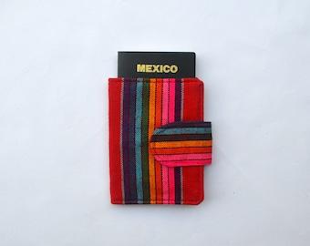 Red and Rainbow Passport Holder