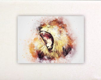 Lion - Watercolor prints, watercolor posters, nursery decor, nursery wall art, wall decor, wall prints 1 | Tropparoba 100% made in Italy