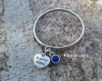 Bracelet 'I love you MOM'