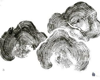 Handmade Wood Block Print - Cloud
