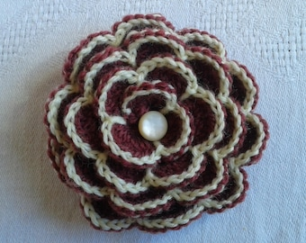 large crochet way Camellia flower