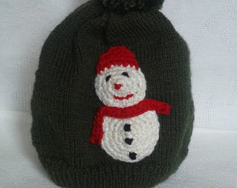 snowman with applied snow boy Hat
