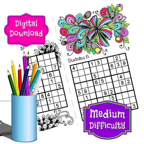 Rompecabezas de Sudoku para imprimir dificultad media