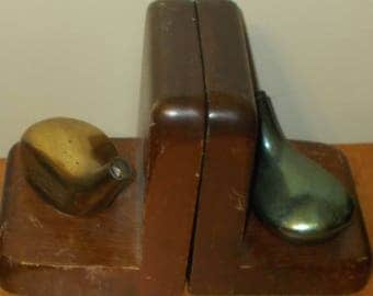 Pair Of Golf Club Driver Book Ends Book case Ends Holder