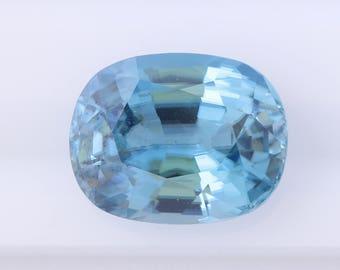 11.37 ct Blue Zircon, Oval Cushion Cut Natural Blue Zircon, Loose Blue Zircon, Natural Loose Gemstone, Oval Loose Zircon, Quality Gemstone