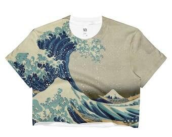 On Sale! Great Wave of Kanagawa, Hokusai - Ladies Crop Top