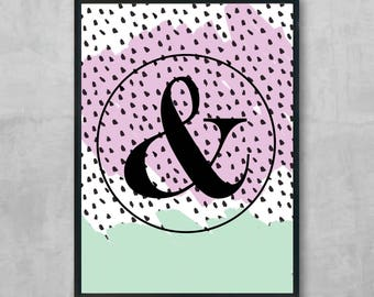 Letter customizable print