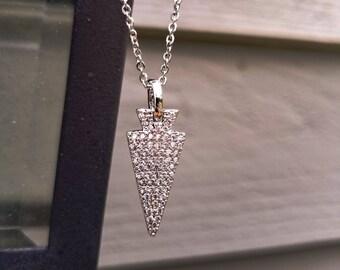Sparkle Arrow Necklace