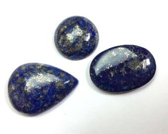 Lapis lazuli gemstone 22 to 33mm (3 pcs)