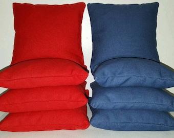 Set Of 8 Red & Royal Cornhole Bean Bags