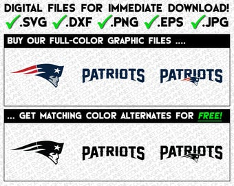 NEW ENGLAND PATRIOTS svg logo 5 file formats (svg, dxf, png, eps, jpg) download instantly! image vector clipart files for cricut silhouette