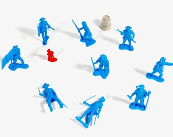 Plastic Revolutionary War Soldiers Patriots 1776 - Lot of 10 Soldiers