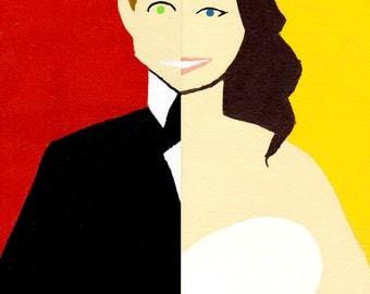 Custom Wedding Half Portraits