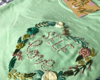 SELF LOVE - hand embroidered shirt