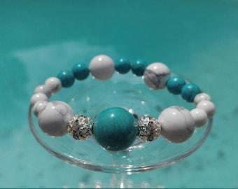 Unique turquoise stones bracelet! Summer bracelet! Favorite!