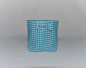 "Panier de rangement tissu réversible ""noeud"""