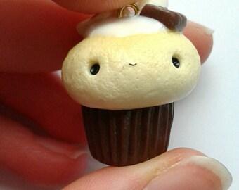 Polymer clay kawaii s'mores cupcake