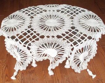 Decorative crochet tablecloth