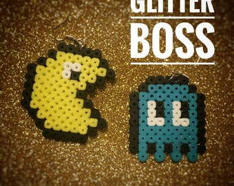 Pacman Pixel Earrings