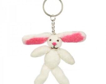Bunny Felt Keyring