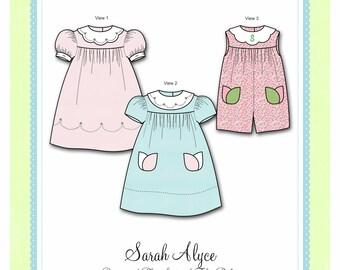 Bonnie Blue Designs 303 - Sarah Alyce / Sizes 6, 12, 18 & 24 mos and 3, 4 yrs