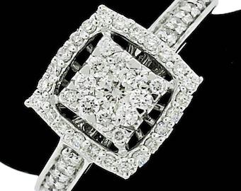 Stylish 14k White Gold Ring 0.50ct. Diamonds with IGI Certificate