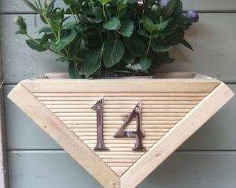 Wooden door planter plaque