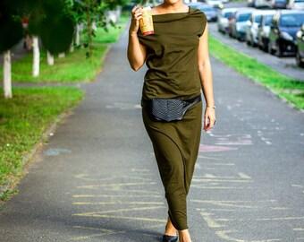 Long dress with turtleneck, maxi dress, seamless, boho dress, Tuba-dress, sizes XS/S