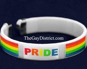 LGBT Gay PRIDE Rainbow Bangle Bracelet