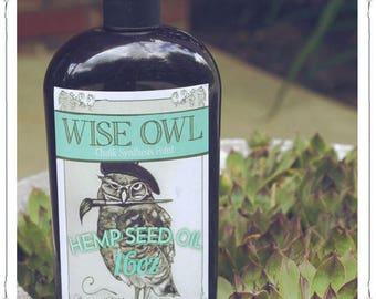 Wise Owl Hemp Seed Oil (5oz, 8oz, 16oz)