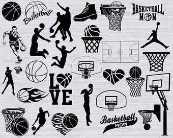 Basketball SVG, Basketball clipart,Basketball Silhouette, basketball mom, svg files for silhouette, cricut, woman basketball, basketball dxf