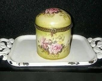 Floral 1898 China Company Victorian Style Trinket Box