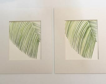 Pair of Palm Leaves