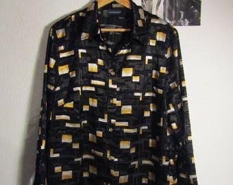 black velvet see trough shirt