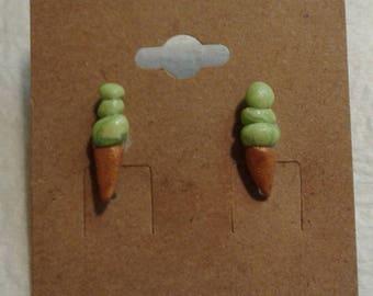 Lime Ice Cream Cones